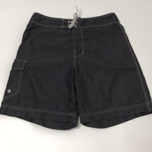 American Eagle Outfitters Men's Gray Swim Trunks
